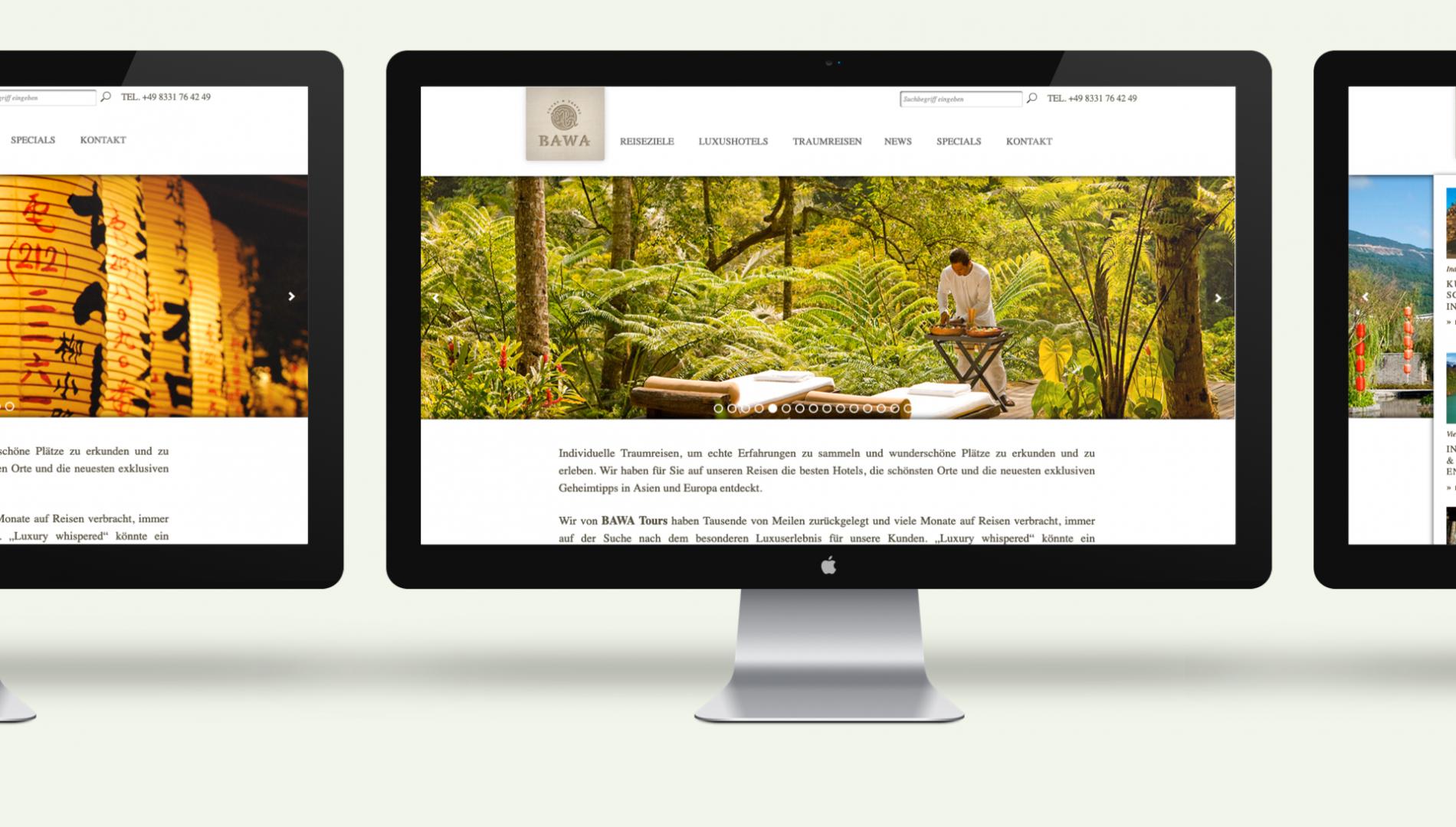 Moderner Internetauftritt mit Word-Press Content-Management-System und responsive Webdesign von der Designagentur das formt aus München