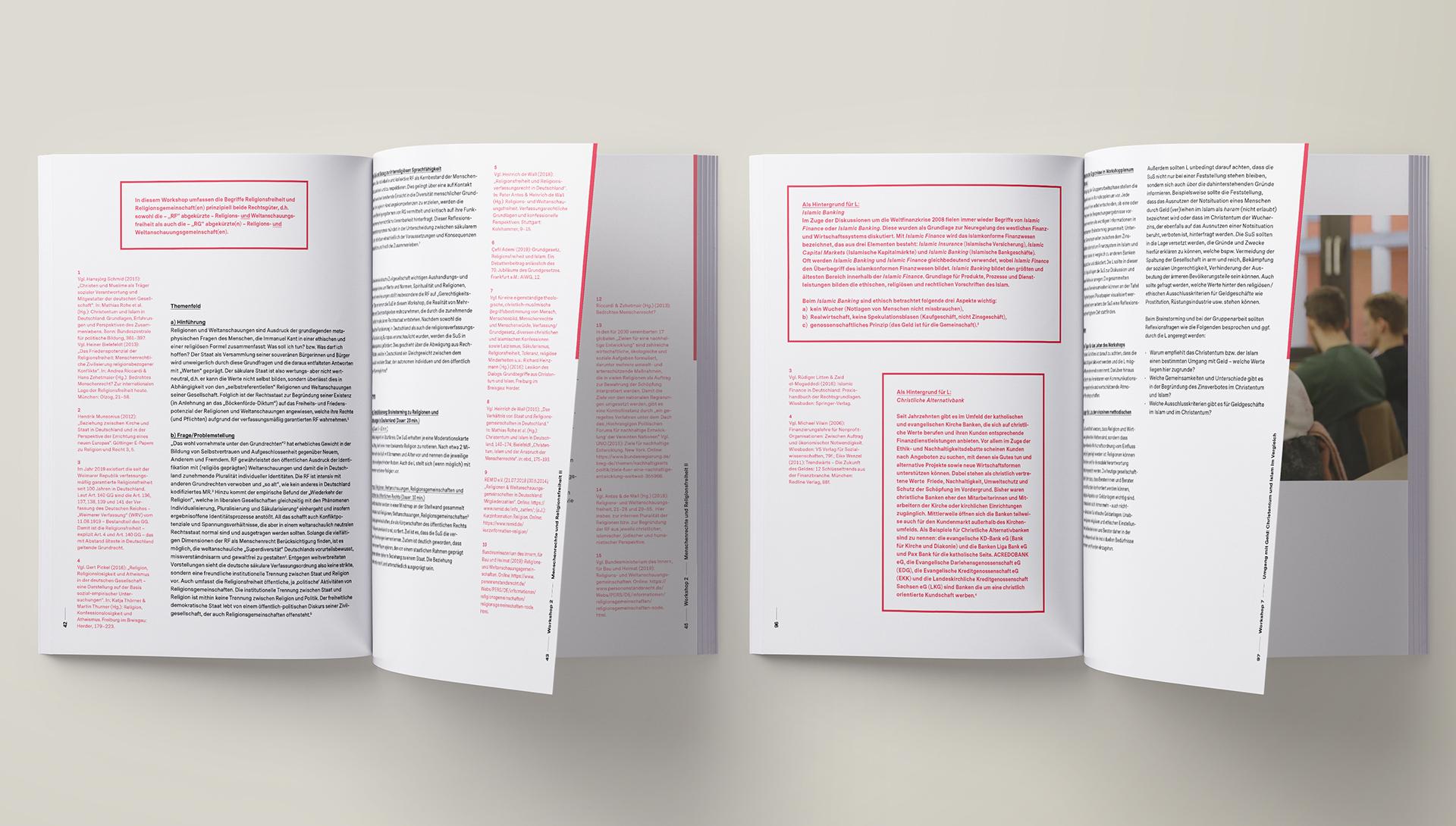 Broschüre mit Print- und Editorial Design der Designagentur das formt aus München