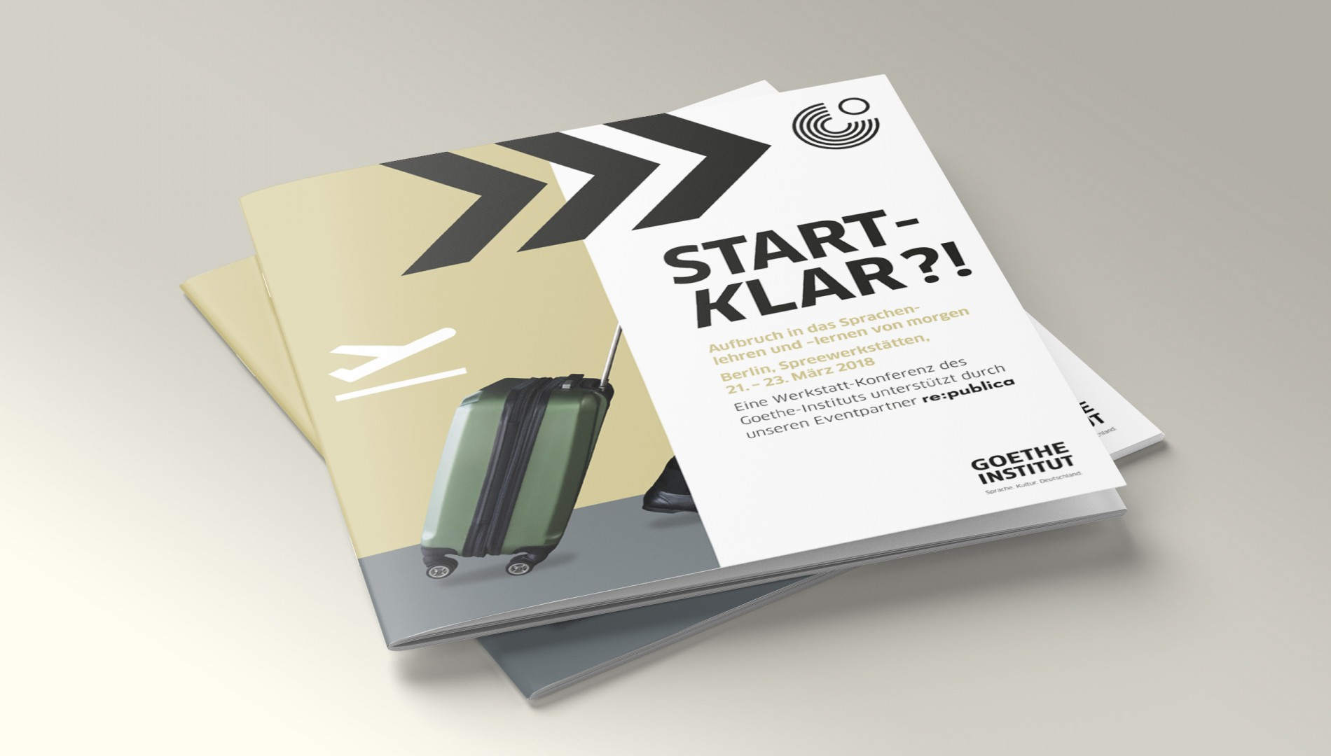 Corporate Design, Messedesign, Orientierungssystem und Printbroschüre von der Designagentur das formt aus München