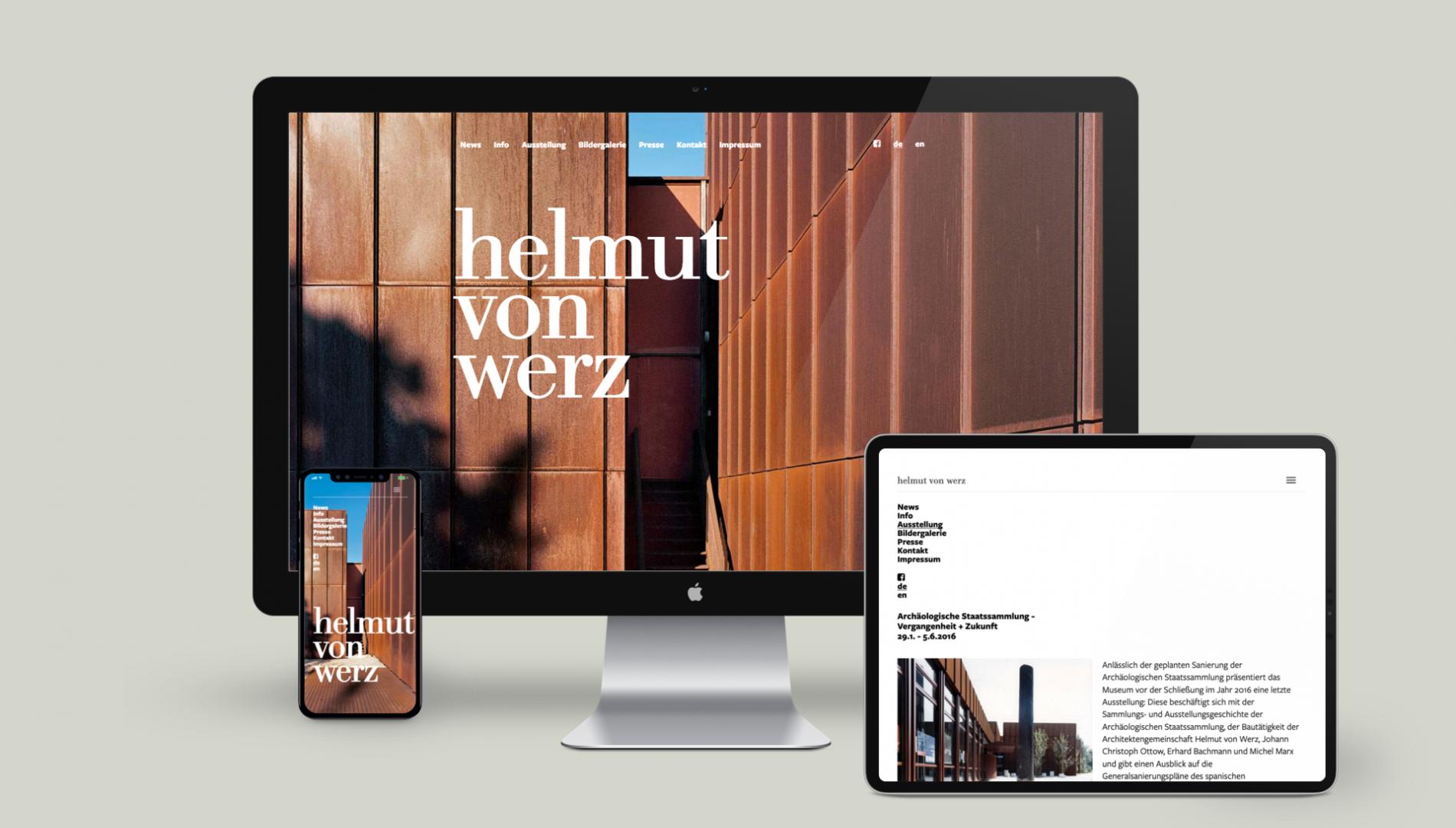 Moderner Internetauftritt mit Content-Management System responsive Webdesign von der Designagentur das formt aus München