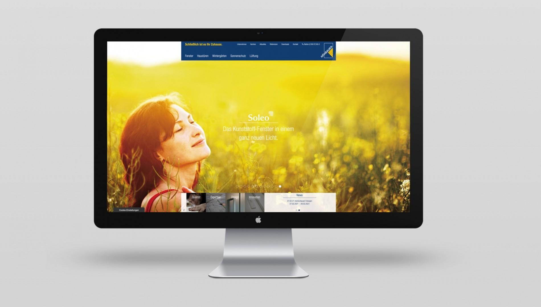 Responsiver Internetauftritt mit TYPO3 Content-Management-System für die Höhbauer GmbH von der Designagentur das formt aus München
