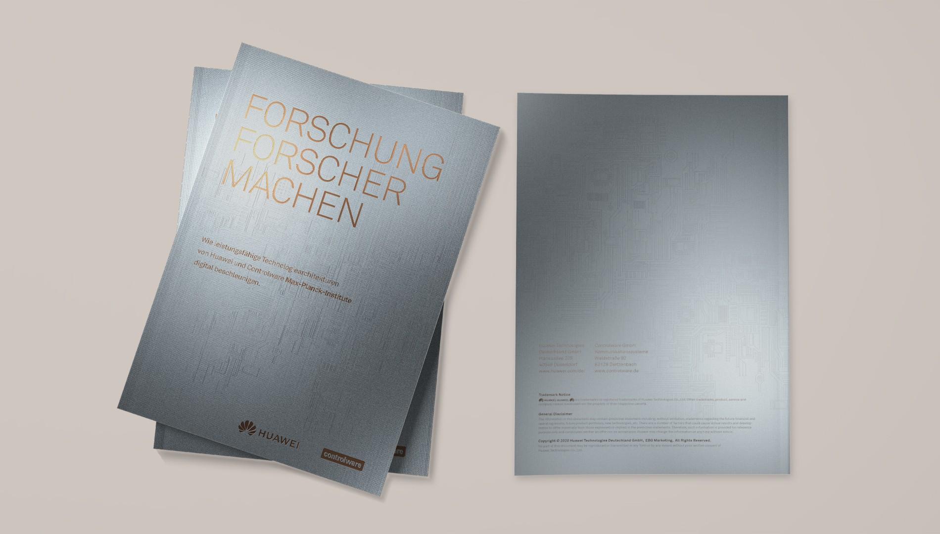 Hochwertige Broschüre für Hauwei mit Editorial Design von das formt - Designagentur aus München