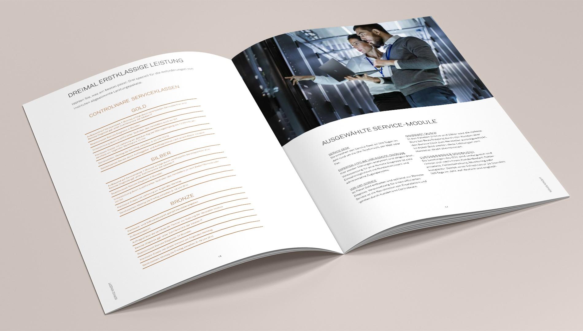 Hochwertige Broschüre für Hauwei mit Printdesign von das formt - Designagentur aus München