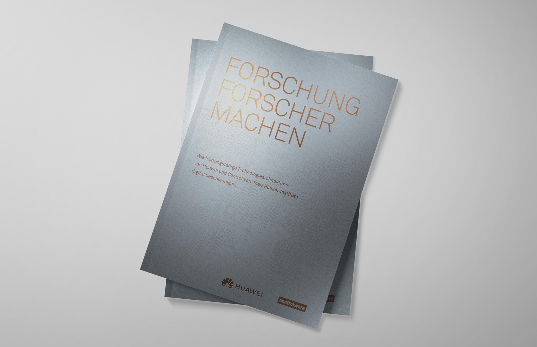 Hochwertig veredelte Broschüre für Hauwei mit Design von das formt - Designagentur aus München