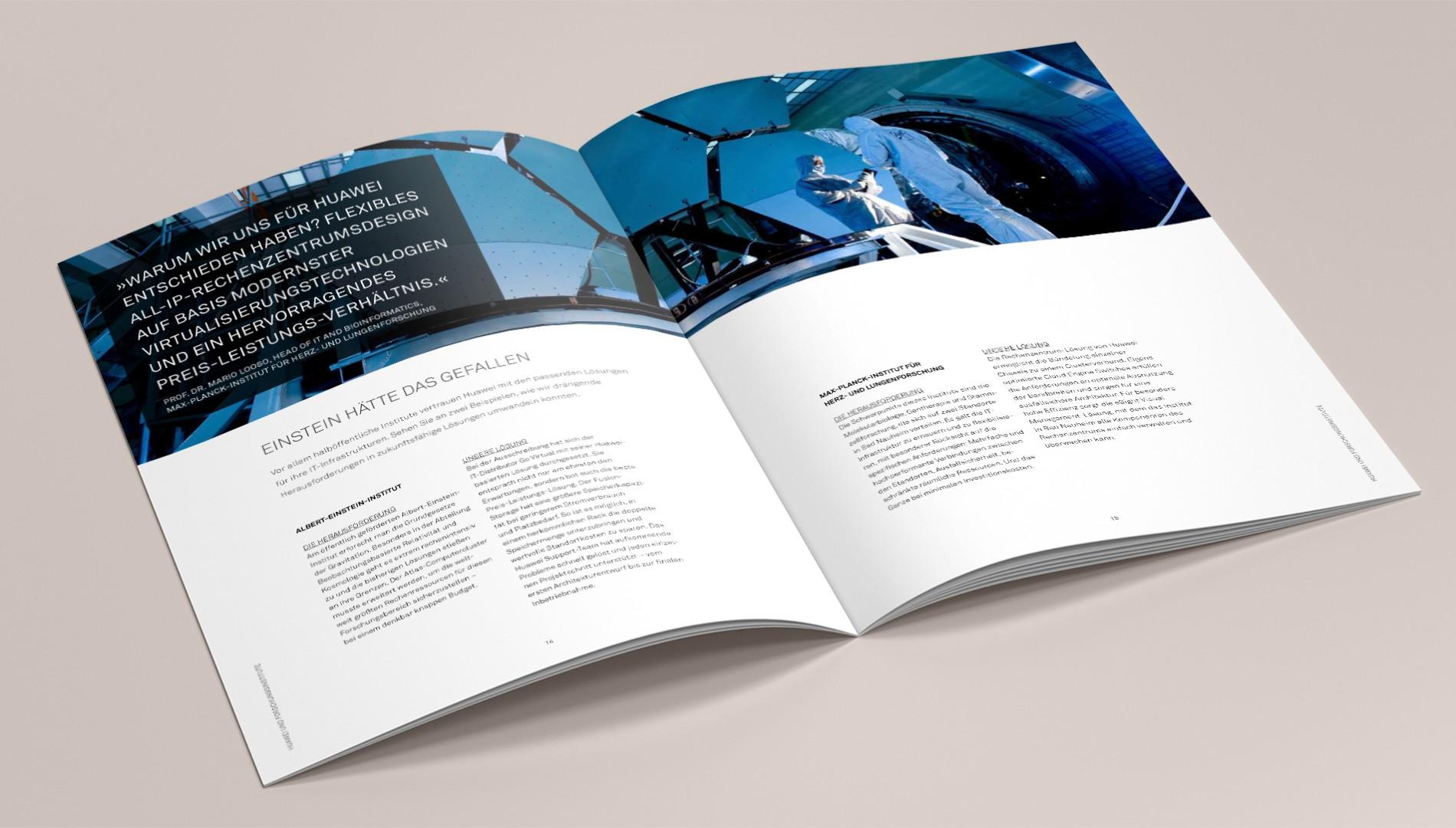 Hochwertige Broschüre für Hauwei mit Konzeption und Gestaltung von das formt - Designagentur aus München