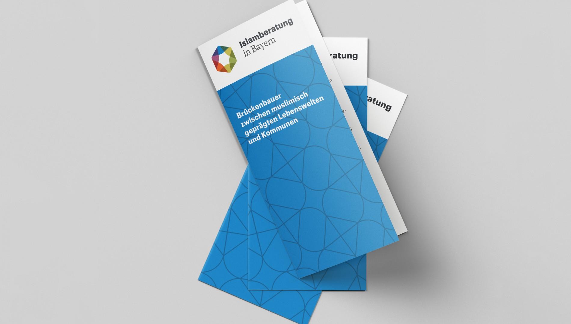 Coporate Design mit Unternehmensfolder für die Islamberatung in Bayern von der Designagentur das formt aus München