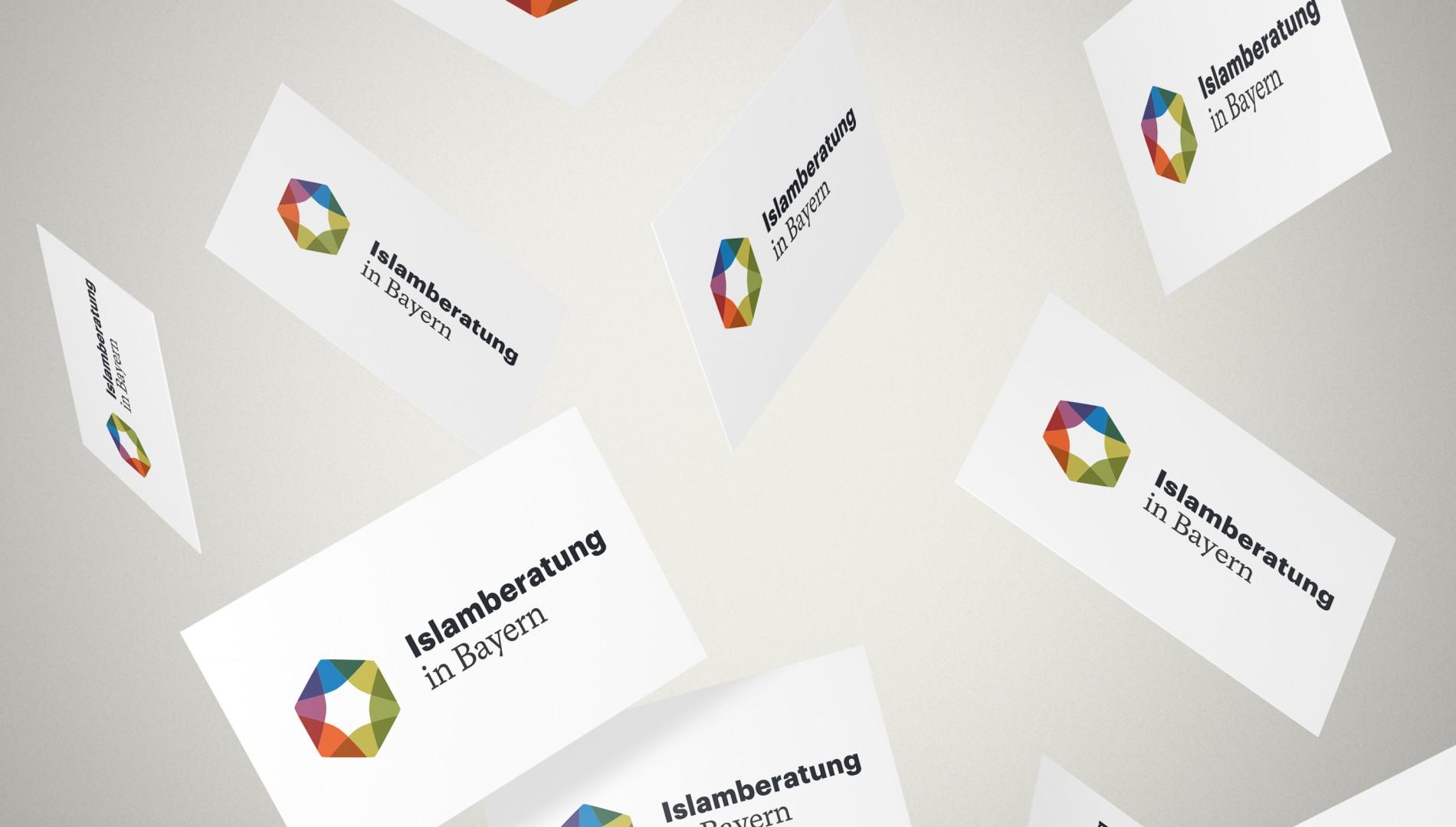Coporate Design mit Geschäftsausstattung für die Islamberatung in Bayern von der Designagentur das formt aus München