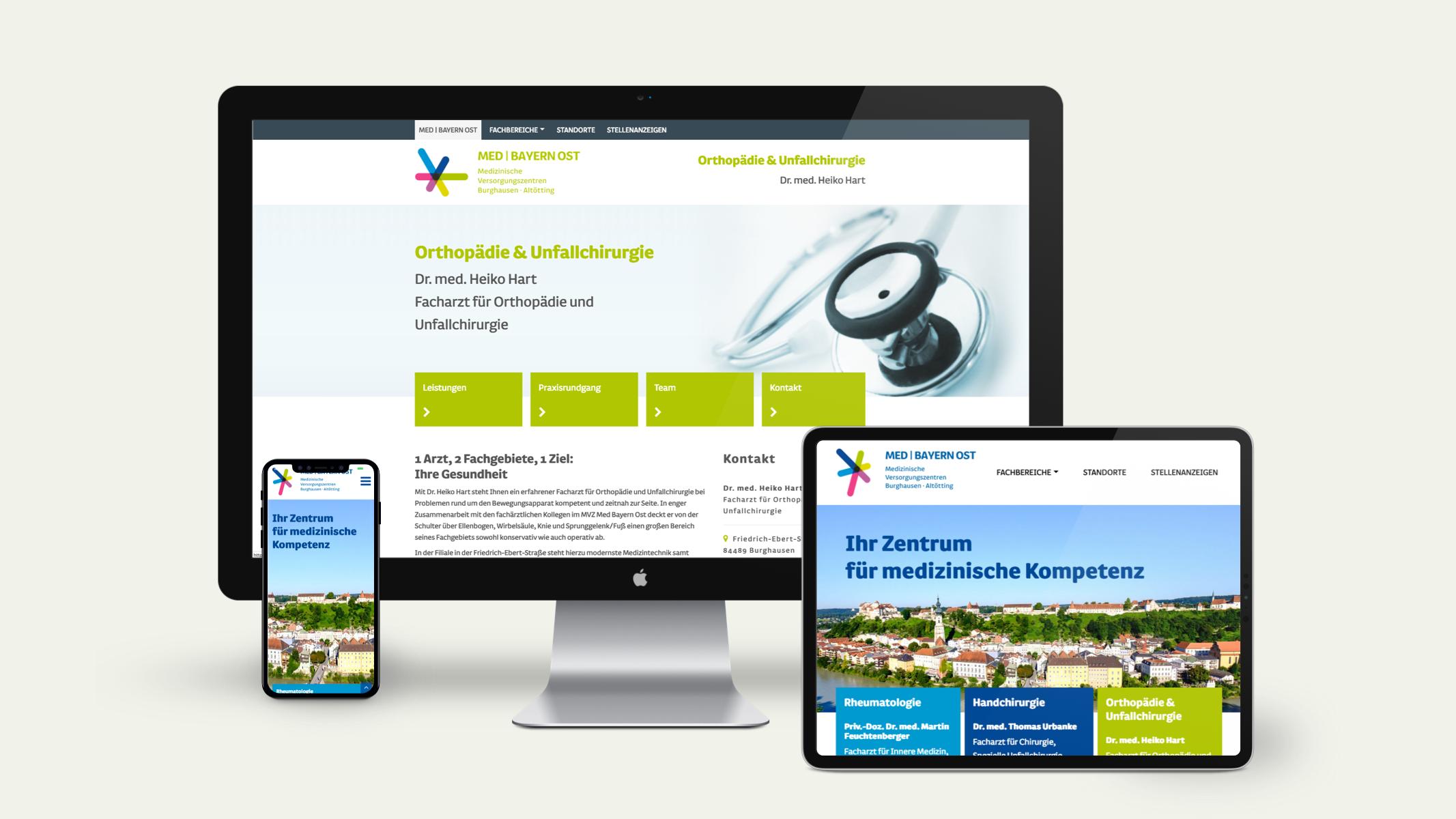 Internetauftritt mit Wordpress Content-Management-System für MED Bayern Ost in Burghausen von der Designagentur das formt aus München