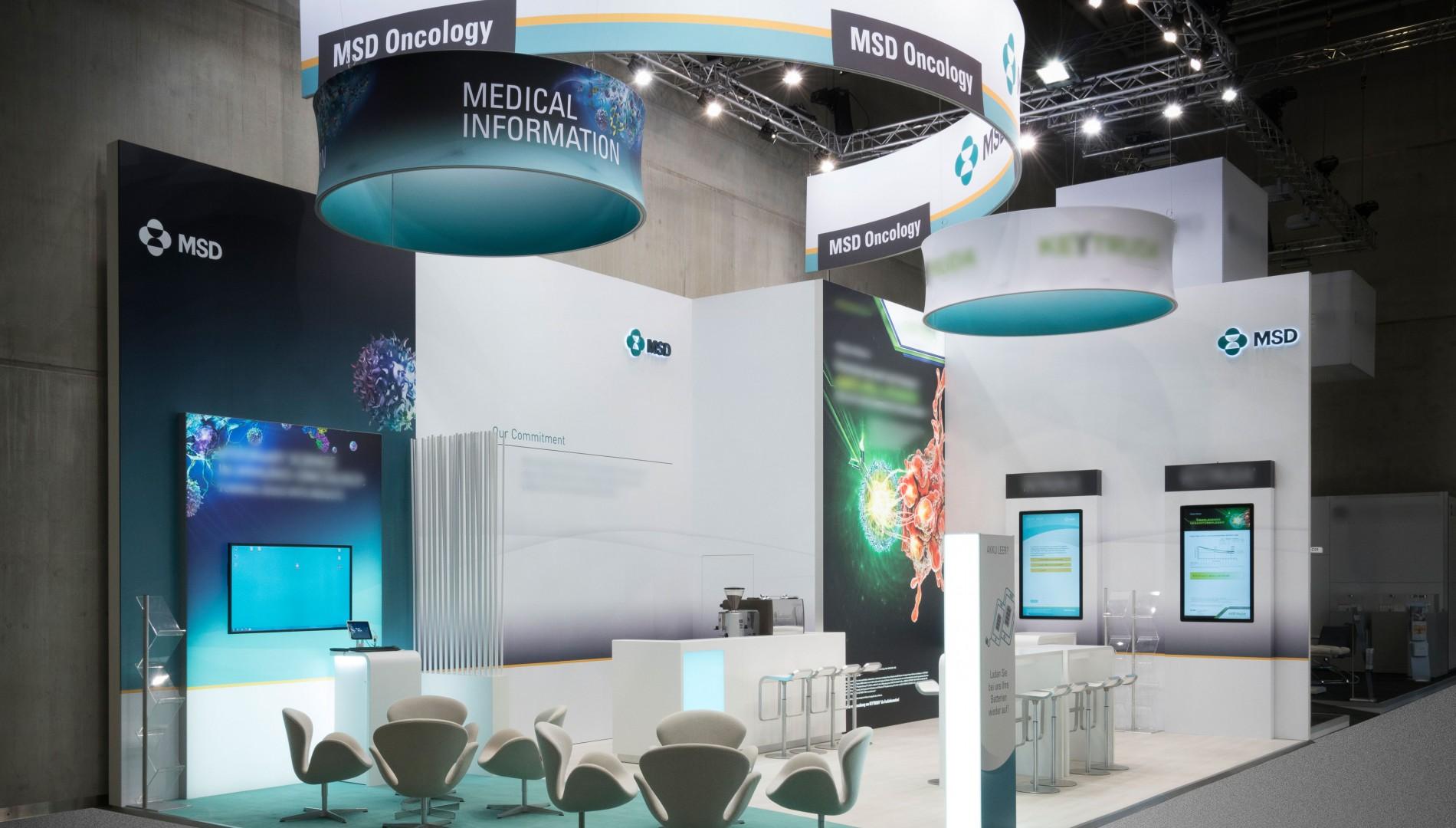 Messedesign für die MSD Sharp & Dohme GmbH von der Designagentur das formt aus München