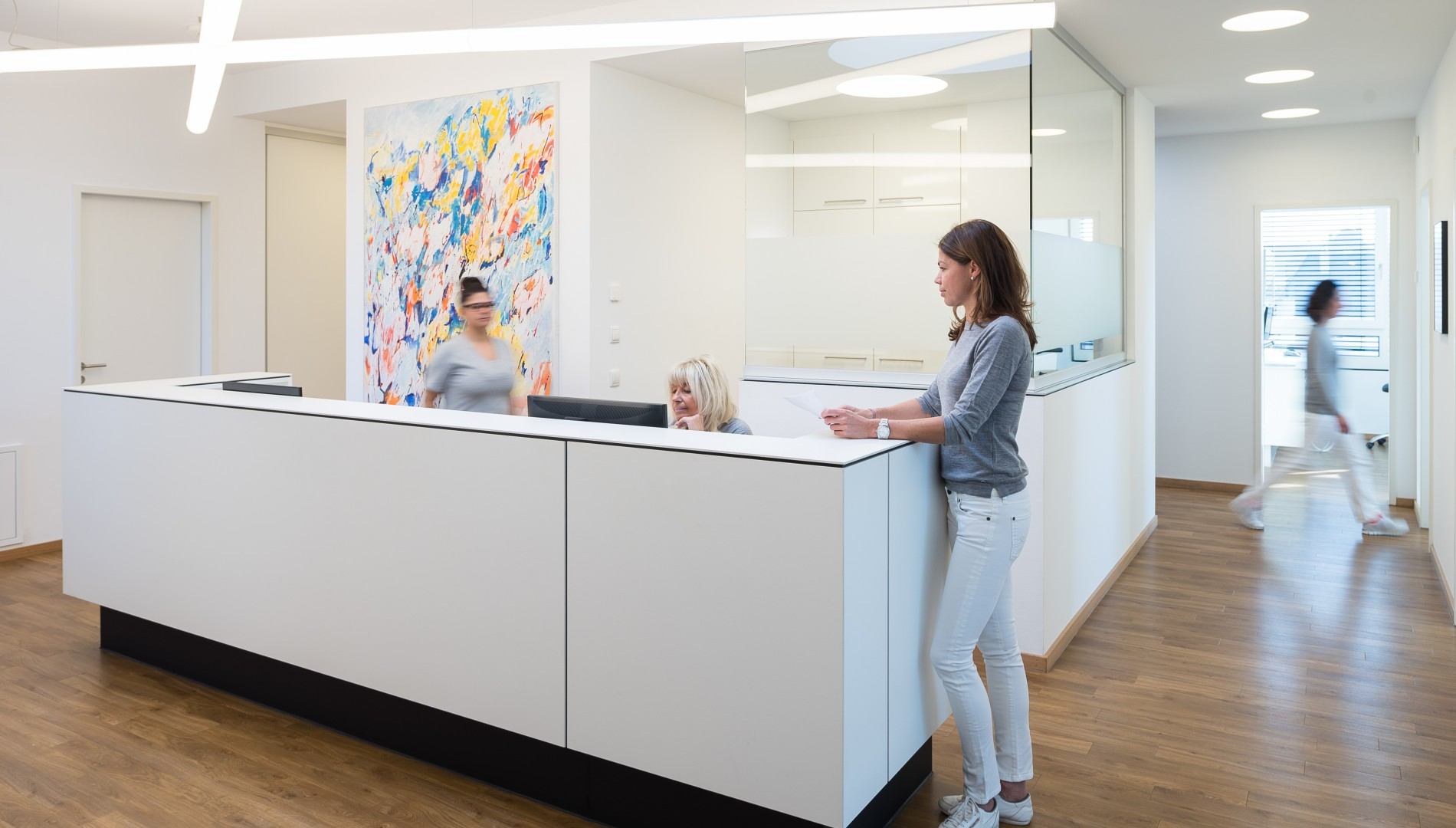 Imagephotographie für die Zahnarztpraxis aus Memmingen von der Designagentur das formt aus München
