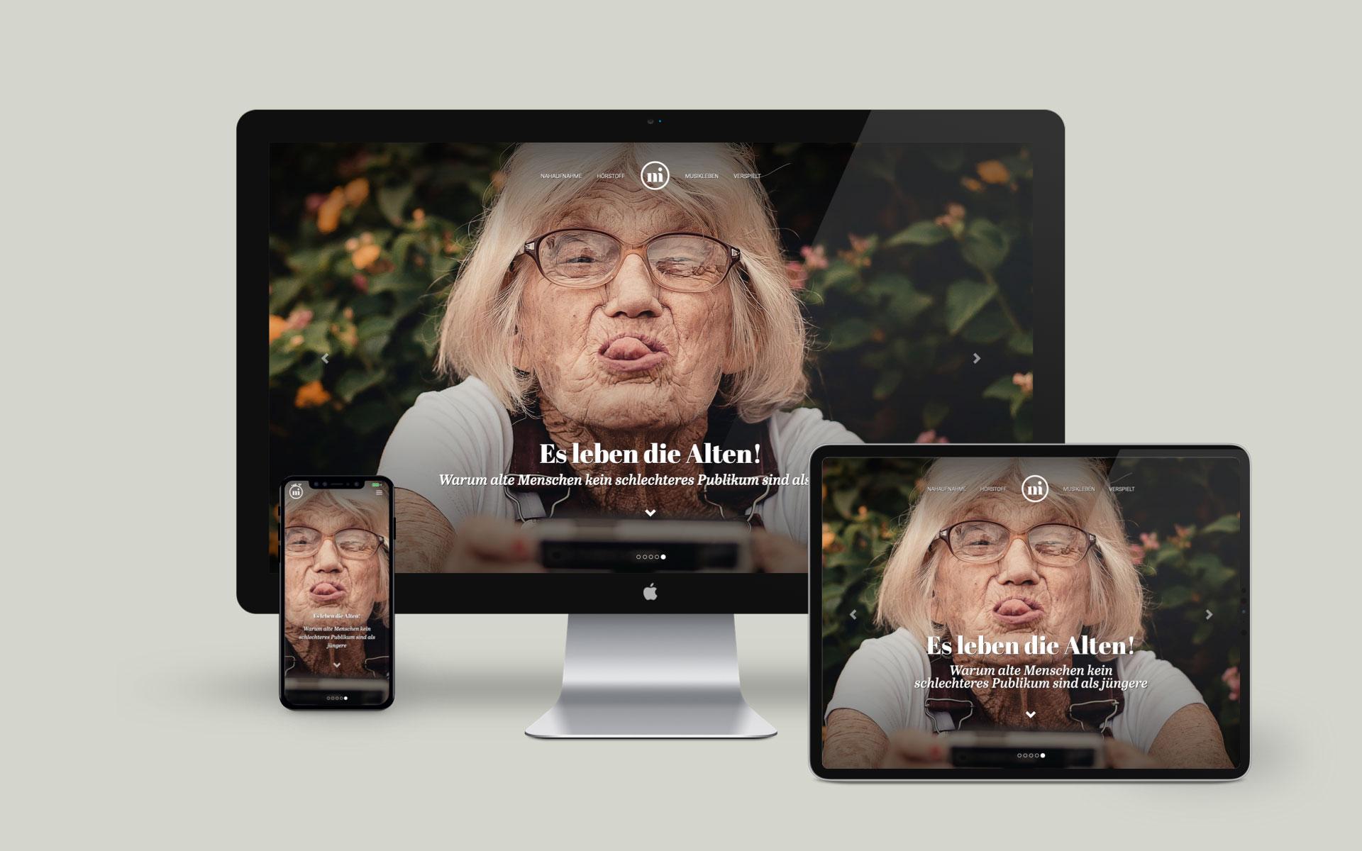 Internetauftritt mit individuellen Content-Management-System für das Magazin niusic von der Designagentur das formt aus München