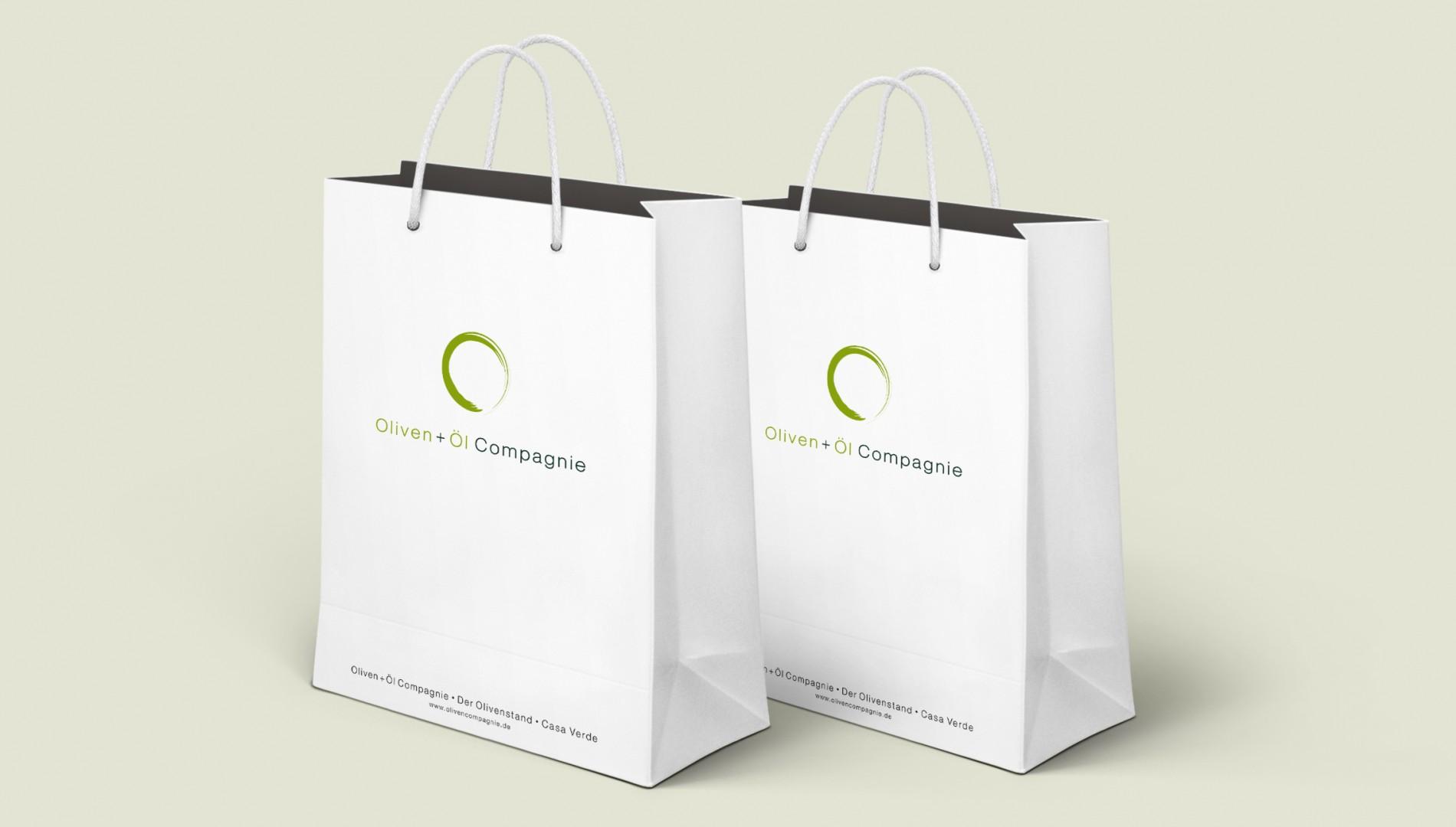 Corporate Design und Packaging für die Oliven + Öl Compagnie aus Memmingen von der Designagentur das formt aus München